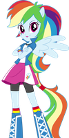 Anthro EQG Rainbow Dash Vector by icantunloveyou