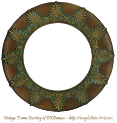 Vintage Bronze Round Patterned Frame by EveyD