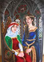 A Portrait of Medieval Twins by Theophilia