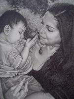 Mother and child by visionality