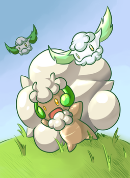 Cottonee and Whimsicott by R-a-g-n-a-r-o-k