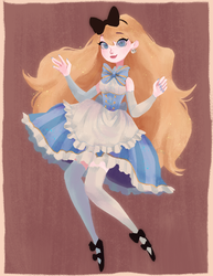 miss alice by mermaidpop