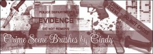 Crime Scene Brushes by HoneyCunt