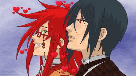 Grell X Bassy Color - Lineart by Wolven-Sorceress by ShadoeLandman