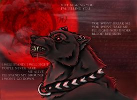 Blood red skies by realWolfshade