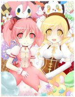 Madoka and Mami by Jellie