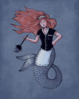 The little mer-maid by Naolito
