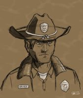 Rick Grimes Sketch by GraySceal