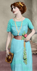 Gown of Turquoise Blue by RMS-OLYMPIC