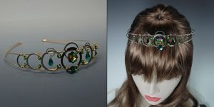 Green Crystal Tiara by YouniquelyChic