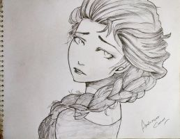 My version of Disney Princess Elsa by abhinendrachauhan