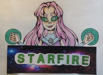 [TraDoodle]: Starfire Nametag by SimplyDefault