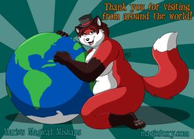 Thank you for visiting from around the world by PudgeyRedFox
