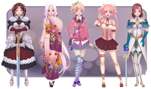 Paypal Adoptables Set 03 -- The Variety Pack! by Miisu