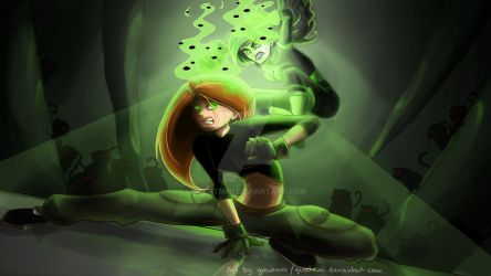 Kim Possible VS Shego by Greatnini