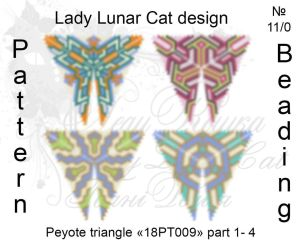 Peyote triangle 18PT009 part 1-4 by LadyLunarCat