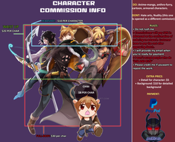 Commission information [ Open permanently] by DaigokunArt