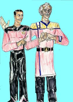 Ben Sisko and Curzon Dax by theaven