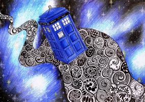 Doctor Who in space by Mizz-Depp