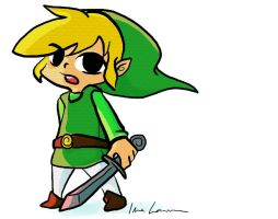tablet practice: toon Link by sheeeeps