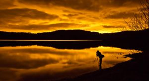 Nightime on the Scottish Loch by BusterBrownBB