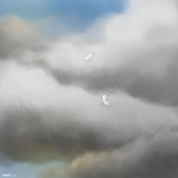 Daily Art Challenge #139: Cloud People by SnowCrasher
