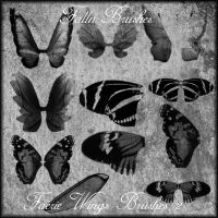Faerie Wings Brushes II by Falln-Brushes