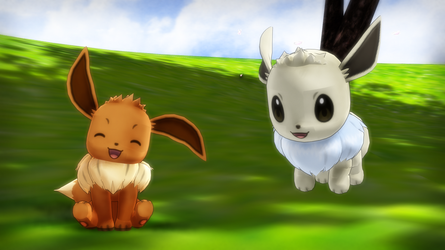 MMD PK Eevee DL by 2234083174