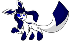 Glaceon(in my oc faith color) by Perma-Fox