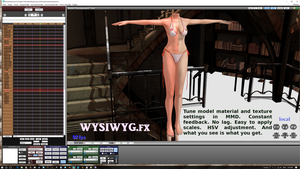 WYSIWYG.fx model development shader for MMD by vasilnatalie