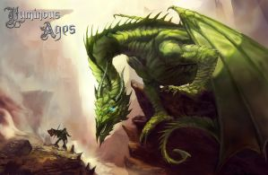The Green Dragon and the Luminary by AnthonyChristou