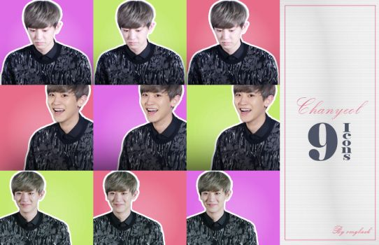 Chanyeol  - 9 icons pack by omgbaek