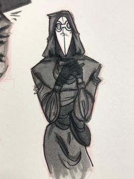 Plague Doctor Doodle by W3st3rnM0n3T
