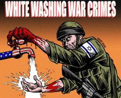 White washing war crimes by Latuff2