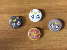 Sailor Moon Button Set by Rin-Claymore