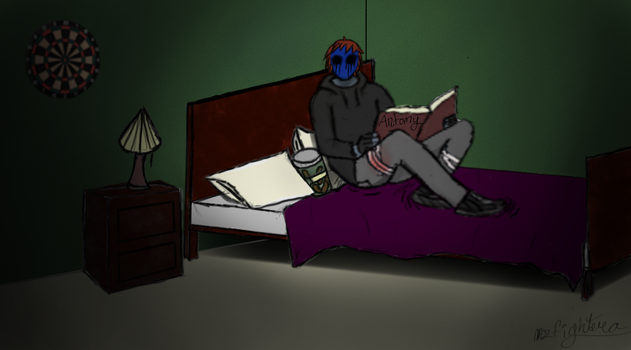 Eyeless jack reading by msfightera