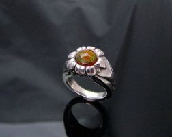 Sunflower Fire Agate Ring by jessa1155