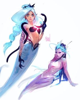 Mermaids #2 by rossdraws