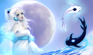 Yue- the spirit of the moon - by AireensColor