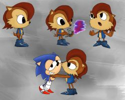 Sally Acorn classic genesis by foxheadTails
