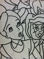 Another Alice n Wonderland painting outline by sampson1721