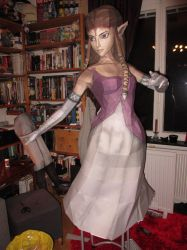 life size zelda assembly almost done by minidelirium
