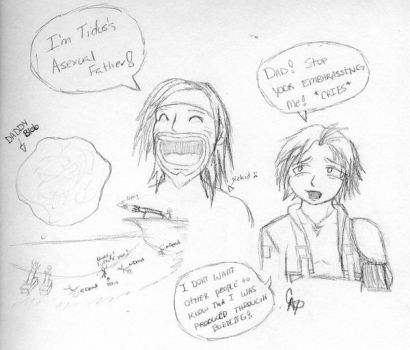 Where Tidus REALLY came from.. by PaperKiwi