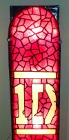 One Direction Stained Glass Wall Light by mclanesmemories