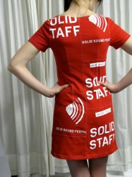 Solid Sound Festival Staff T-Shirt Dress by Criddlebee
