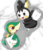 snivy emolga Pillow fight