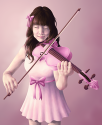 Violin Portrait (commission) by blazheirio889