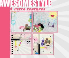 4 retro textures by awesomestyle