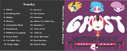 Mystery Skulls: Ghost Album Cover by Chrismilesprower