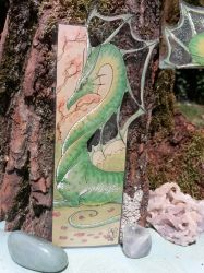Green Dragon Bookmark (SOLD) by AndromedasWitchery